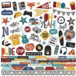 Simple Stories - Bro & Co - 12 x 12 Combo Sticker Sheet